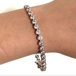 🌸BOGO  Silver Cubic Zirconia Tennis Bracelet